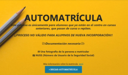 tutorial automatricula bachillerato